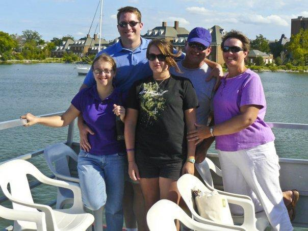 Me in the purple polo, my other half's family