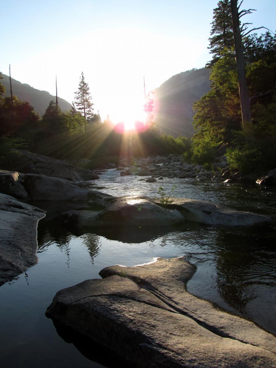 Sunrise on the Mokelumne River