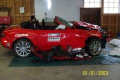 Crashed Race Car